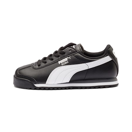 Roma Basic Little Kids' Shoes, black-white-silver, small