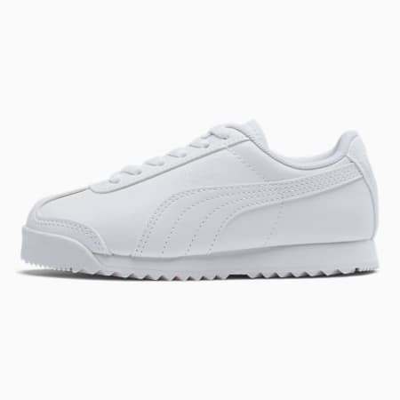 Roma Basic Little Kids' Shoes, Puma White-Gray Violet, small
