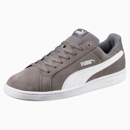 Smash Suede Trainers, QUIET SHADE-Puma White, small-GBR