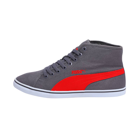 Elsu v2 Mid CV DP black-white, steel gray-high risk red, small-IND