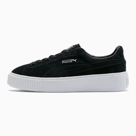 Suede Platform Women's Sneakers, Puma Black-Black-Puma White, small