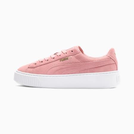 Zapatos deportivos con plataforma Suede para mujer, Bridal Rose-Puma Team Gold, pequeño