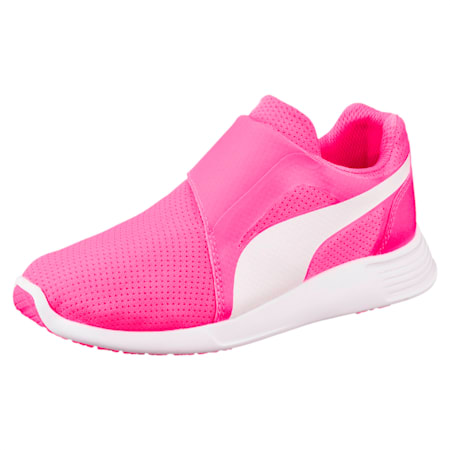 ST Trainer Evo AC Kids' Shoes, KNOCKOUT PINK-Puma White, small-IND