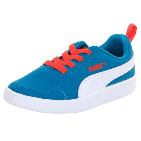 Courtflex Kids' Shoes, Mykonos Blue-Puma White, small-IND