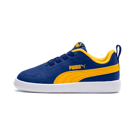Courtflex Kids' Shoes, Sodalite Blue-S.Yellow-White, small-IND