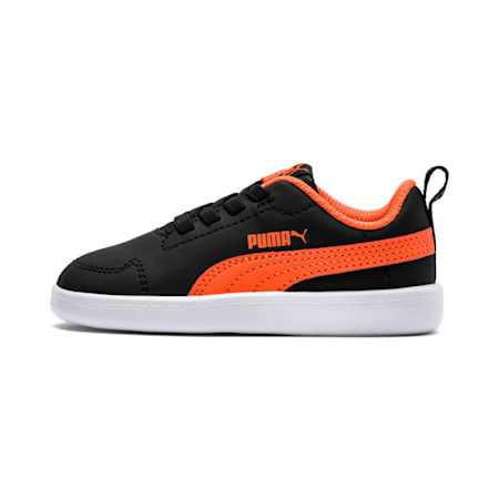 Courtflex Kids' Shoes, Puma Black-Firecracker-White, small-IND