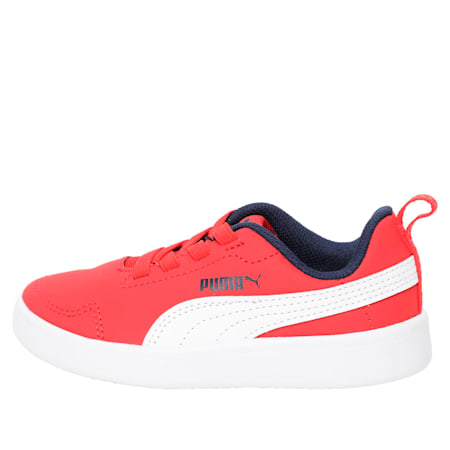 Courtflex Kids' Shoes, Puma White-Red-Peacoat, small-IND