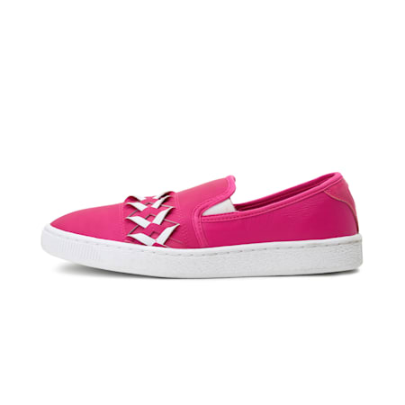 Basket Slip-on Cut-out Women's Shoes, ULTRA MAGENTA-ULTRA MAGENTA, small-IND