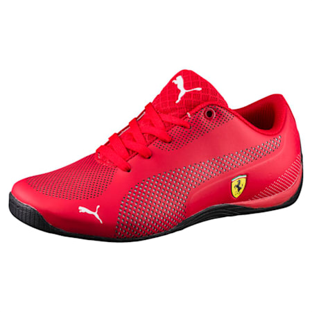 SF Drift Cat 5 Ultra Kid's Shoes, Rosso Corsa-Puma White, small-IND