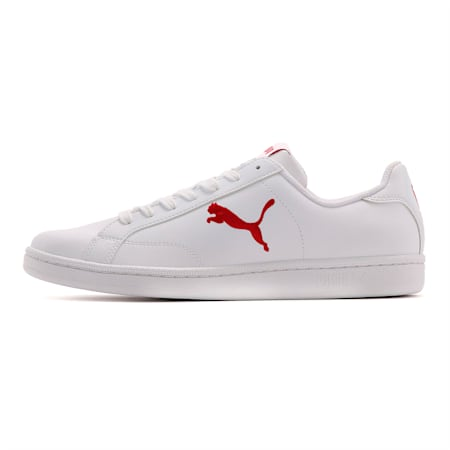 プーマ スマッシュ キャット L スニーカー, Puma White-Barbados Cherry, small-JPN