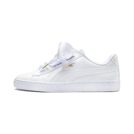 Basket Heart Patent Women's Shoes, Puma White-Puma White, small-IND