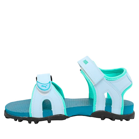 Track PS IDP Kid's Sandals, CERULEAN-BiscGreen-Corsair, small-IND