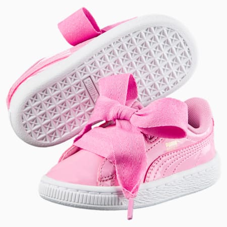 Basket Heart Patent Little Kids' Shoes, PRISM PINK-PRISM PINK, small