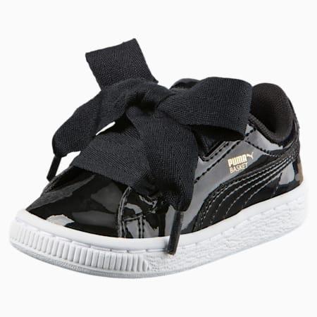 Basket Heart Patent Toddler Shoes, Puma Black-Puma Black, small