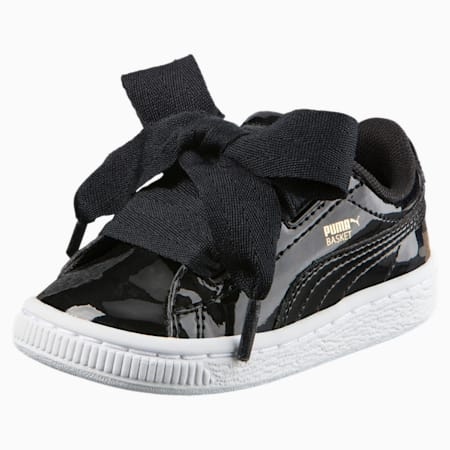 Basket Heart Babies' Trainers, Puma Black-Puma Black, small-SEA