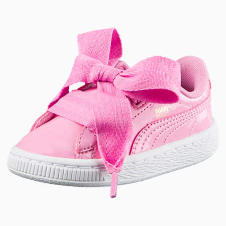 Basket Heart Babies' Trainers, PRISM PINK-PRISM PINK, small-SEA