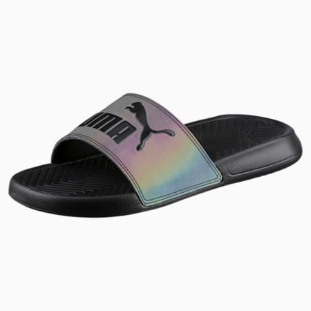 Popcat Swan Women's Slide Sandals, Puma Black, small-SEA