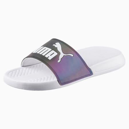 Popcat Swan Women's Slide Sandals, Puma White, small-SEA
