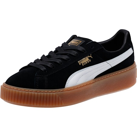 스웨이드 플랫폼 코어/SUEDE PLATFORM CORE, Puma Black-Puma White, small-KOR