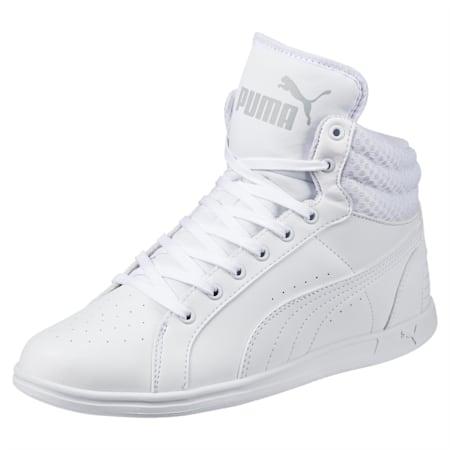 PUMA Ikaz Mid v2 Women's Shoes, Puma White-Puma White, small-IND