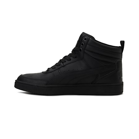 Rebound Street v2 Leather High Top Sneakers, Puma Black-Puma Black, small-IND