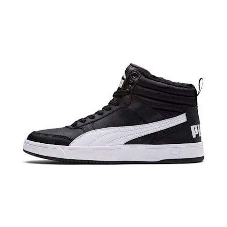 Rebound Street v2 Fur High Tops, Puma Black-Puma White, small-IND