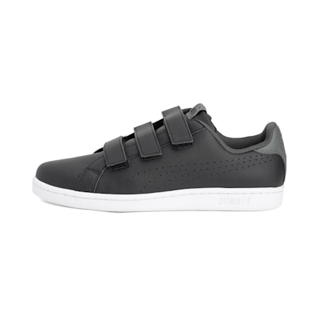 Smash Velcro Shoes, Puma Black-Dark Shadow, small-IND