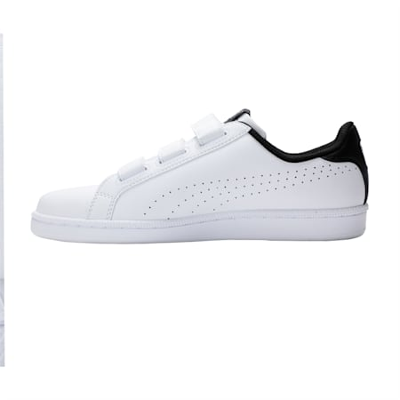 Smash Velcro Shoes, Puma White-Puma Black, small-IND