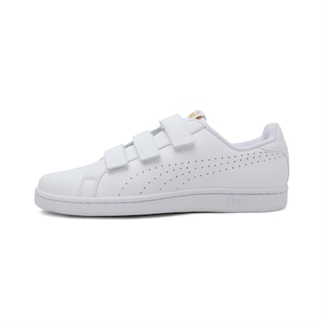 Smash Velcro Shoes, Puma White-Puma White, small-IND