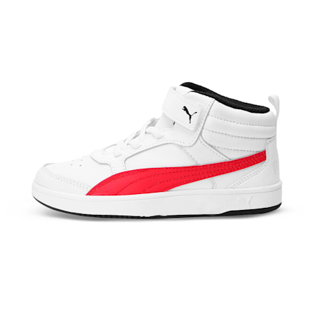 PumaReboundStreet2 L V PS, White-Rbbn Red-Black, small-IND