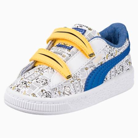 Minions Basket Toddler Shoes, Puma White-Lapis Blue, small
