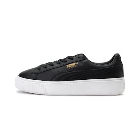 Basket Platform Core Women's Shoes, Puma Black-Gold, small-IND