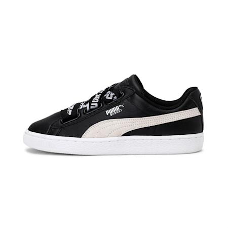 Basket Heart DE Women's Shoes, Puma Black-Puma White, small-IND