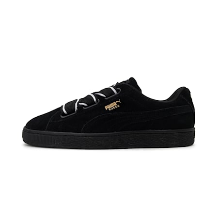 Suede Heart Satin II Women's Shoes, Puma Black-Puma Black, small-IND