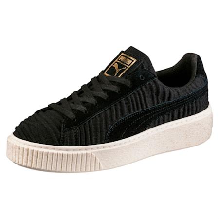 Basket Platform Women's Shoes, PBlack-PBlack-Whisper White, small-IND