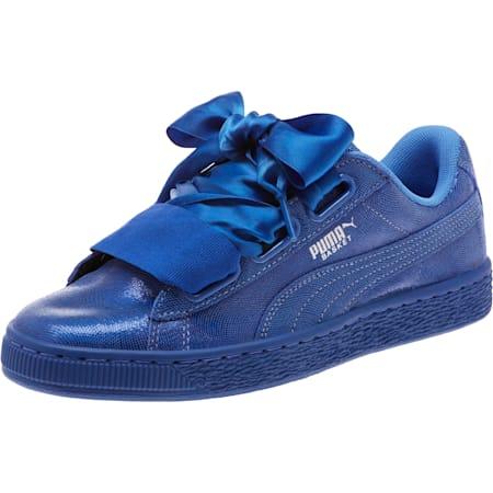 Basket Heart Opulence Women's Sneakers, Baja Blue-Baja Blue, small