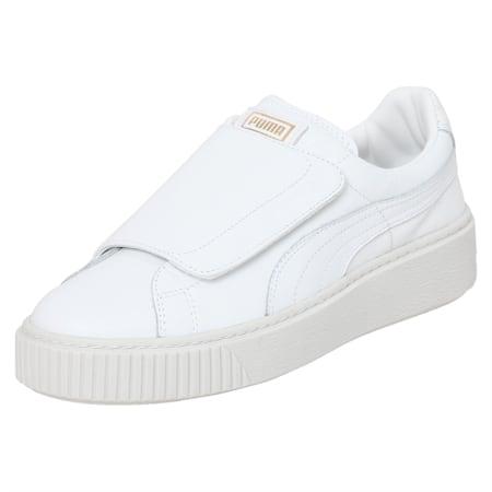 Basket Platform Big Strap Women's Shoes, Puma White-Puma White, small-IND