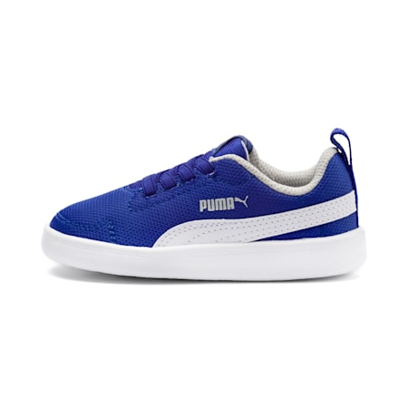 Courtflex Mesh PS Kid's Sneakers, Surf The Web-Puma White, small-IND