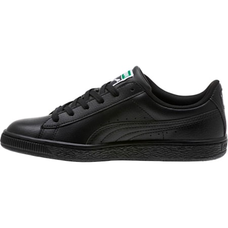 Basket Classic LFS Kids' Trainers, Puma Black-Puma Black, small