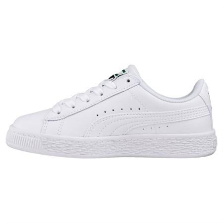Basket Classic Sneakers JR, Puma White-Puma White, small