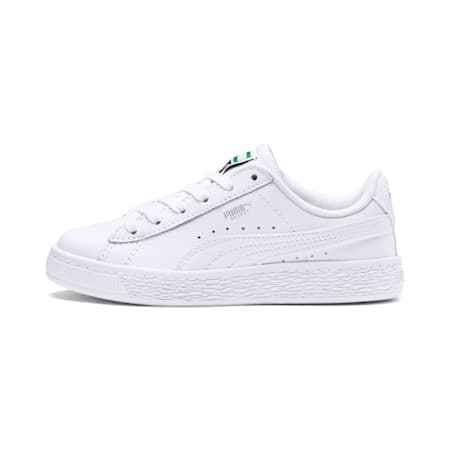 Basket Classic Little Kids' Shoes, Puma White-Puma White, small