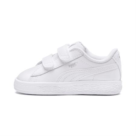ZapatosBasket Classic AC para bebés, Puma White-Puma White, pequeño