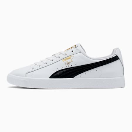 Clyde Core Foil Men's Sneakers, White- Black-Puma Team Gold, small