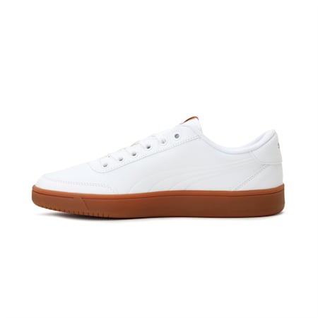 Court Breaker Leather Mono Shoes, Puma W-Puma W-Metallic Gold, small-IND