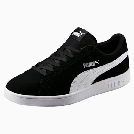 Smash v2 Trainers, Puma Black-Puma White-Puma Silver, small