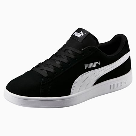 Smash v2 Trainers, Black-Puma White-Puma Silver, small-GBR