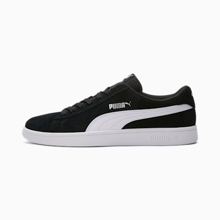 PUMA Smash v2 Men's Sneakers, Black-Puma White-Puma Silver, small