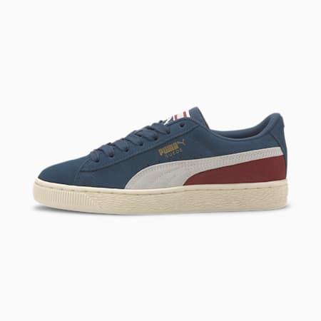 Suede Classic Sneakers JR, Dark Denim-Burnt Russet, small