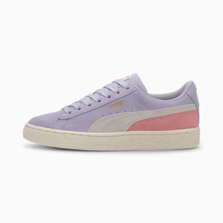 Suede Classic Sneakers JR, Purple Heather-Peony, small