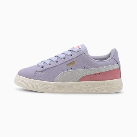 Suede Classics Little Kids' Shoes, Purple Heather-Peony, small